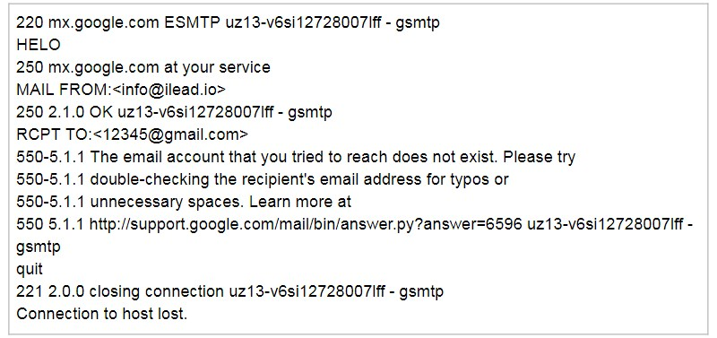 how to ping email address