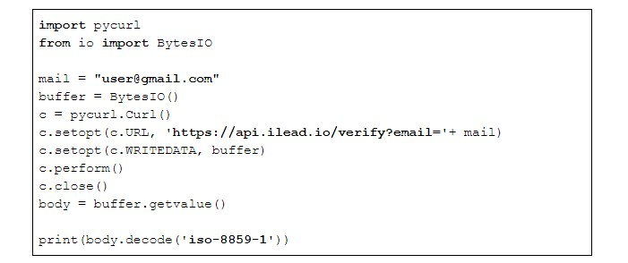 How to validate email with Python using iLead verification service